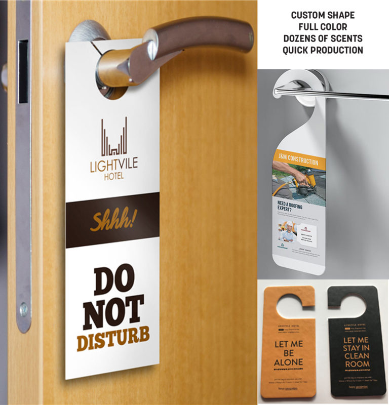 Custom Door Knob Hanger - Scented - Full Color