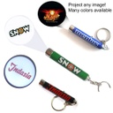 Promotional LED Logo Projector Flashlight Keychain - Aluminum