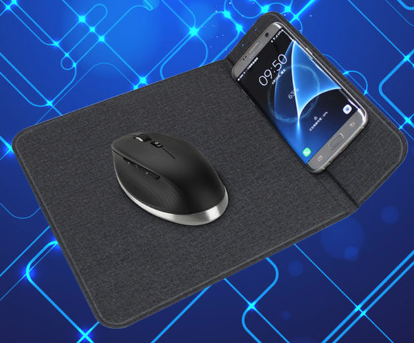 Qi Wireless Charging Pad Mouse Mat