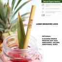 Organic Bamboo Drinking Straw - Reusable And Decorated