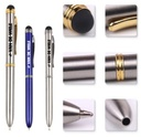 2 In 1 Stainless Steel Stylus Pen