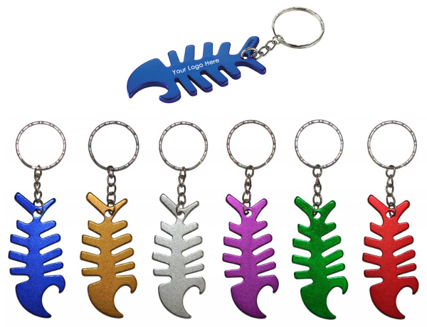 Fish Bone Bottle Opener Keychain