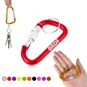 Screw Lock D Hung Carabiner Keyring