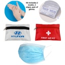 PPE Kit 2 Surgical Masks, 2 Alcohol Pads, Pair Of Gloves - Imprinted Pouch