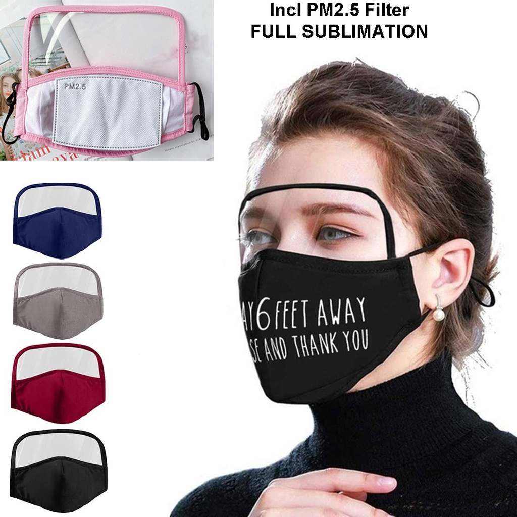 Sprinters Customized Reusable Mask W/ Eye Shield