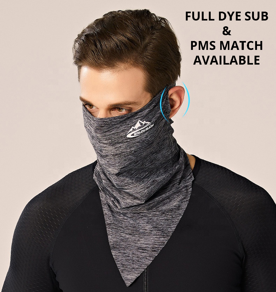 Full Color Neck Gaiter Face Mask - w/ Ear Loops
