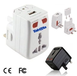 [UB1440] Universal Travel Adapter With Surge Protector And USB Port