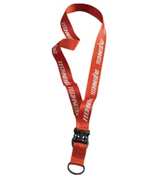 "[UB1070] Sprinters Lanyard 3/4"" Polyester W/ Metal O Ring And Slide Buckle Release"