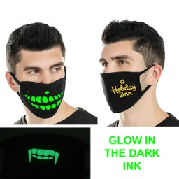 [CV2762] 2 Ply Cotton Luminous Face Mask - Glow in the Dark
