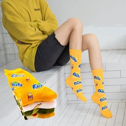 [CS9366] Combed Cotton Crew Sock - DTG Printing