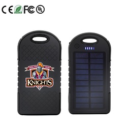 [PWB3889] Solar Power Bank with Dual USB Port - 4000 mAh UL Certified