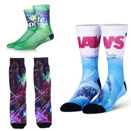 [CS9785] Custom Dress Sock with Full Color Sublimation