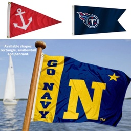 "[CF4676] 12"" X 18"" Single Reverse Knitted Polyester Boat Flag - Full Color"