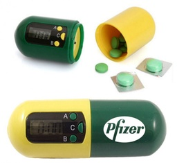 [AB0338] Capsule Shaped Digital Electronic Timer Pill Box