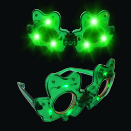 [SS7990] LED Shamrock Sunglasses